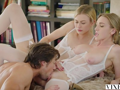 VIXEN Young Blonde Girls Share Boyfriend