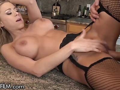 Squirting Housewife Drilled by Handyman
