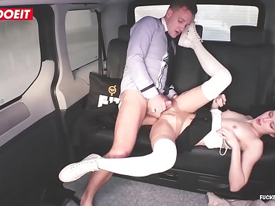 LETSDOEIT - Hot Coed Seduces and Fucks Lucky Taxi Driver