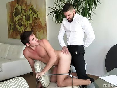 Boss Daddy Likes 2 Keep His Suit On While Fucking