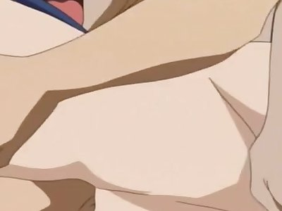 anime girl in ganbang she need cock