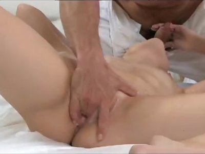 Shy young Violette Pure enjoys cream pie