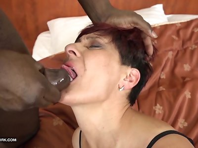 Grandmas Hardcore Fucked Interracial Pornography with Old Women loving Black Fuck-sticks