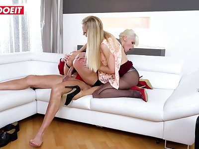 LETSDOEIT - StepDaddy Penetrates Mom And Daughter With His Big Meatpipe