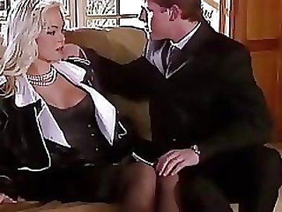 Silvia Saint Humps get under one's Lawyer and Wanks His Jizz